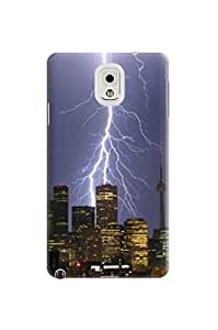 LarryToliver Creative Design Snap on Customizable Lightning pictures samsung note 3 Durable Soft Plastic Case Cover #1