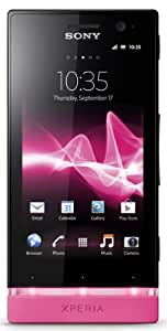 Sony Xperia U ST25A-BP Unlocked Phone with Android 2.3 OS and 3.5-Inch Touchscreen--U.S. Warranty (Black/Pink)