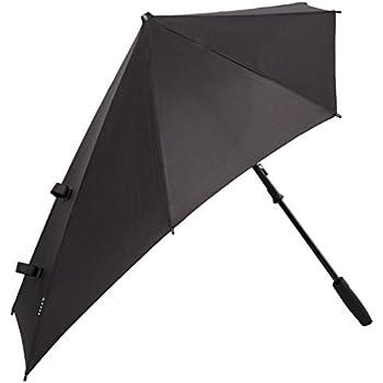 "Senz ""Smart"" Stormproof Stick Umbrella in Black Out"