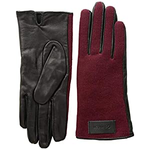 Calvin Klein Women's Knit and Leather Gloves