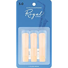 Rico Royal Alto Sax Reeds, Strength 3.0, 3-pack