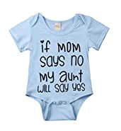 Toddler Baby Boys Girls Aunt Funny Bodysuits Newborn Cotton Rompers