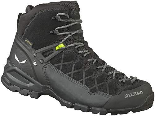 Salewa Alp Trainer Mid GTX Hiking Shoes - Men's Black/Black 11 (Salewa Alp Trainer Mid Gtx Hiking Boot)
