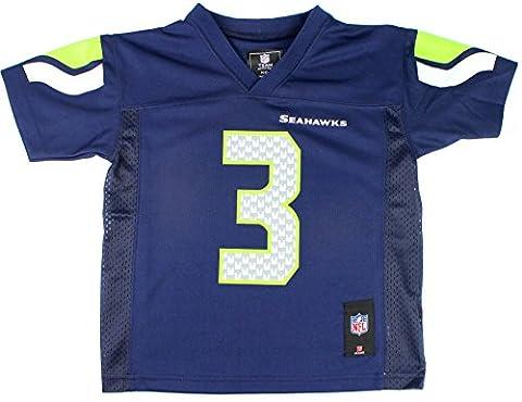 Russell Wilson #3 Seattle Seahawks NFL Kids Sizes 4-7 Mid-tier Jersey Navy (Kids Medium Size 5/6) (Nfl Helmets Kids)
