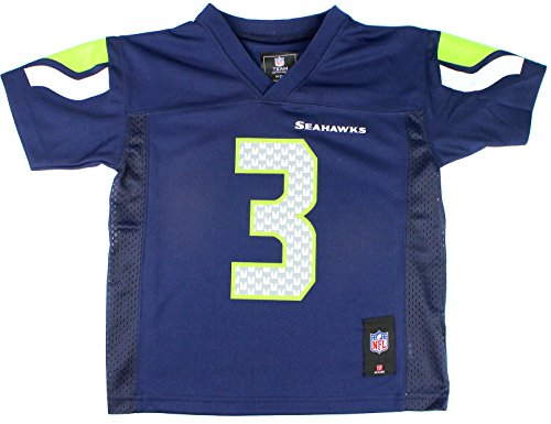 (Russell Wilson Seattle Seahawks #3 Infant Sizes Mid-tier Jersey Navy (18 Months))