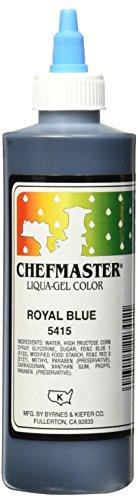 Chefmaster Liqua-Gel Food Color, 10.5-Ounce, Royal Blue