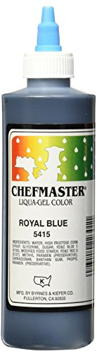 Chefmaster Liqua-Gel Food Color, 10.5-Ounce, Royal Blue