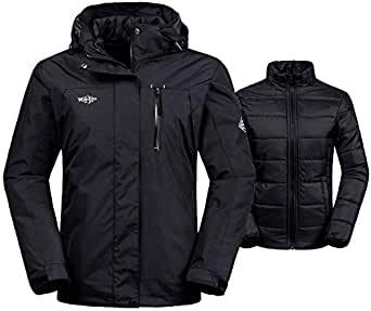 Amazon.com: Wantdo Women's 3-in-1 Waterproof Ski Jacket