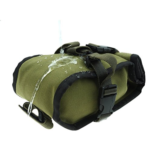 Bike Seat Pack, BlueTop Waterproof Cycling Rear Seat Trunk Bag Army Green Saddle Bags Mountain Bike Bag Bicycle Accessories