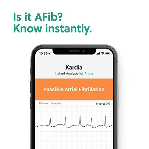 AliveCor KardiaMobile 6L   FDA-Cleared   Wireless 6-Lead EKG   Works with Smartphone   Detects AFib or Normal Heart Rhythm in 30 Seconds 41FOnDF0fqL