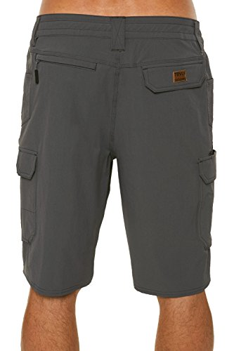 O'Neill Men's Traveler Cargo Stretch Hybrid Boardshort, Asphalt, 30.0 by O'Neill