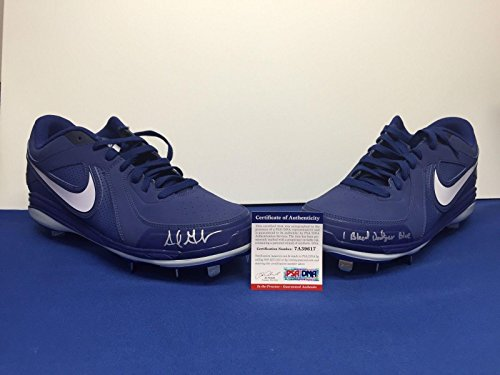 "Adrian Gonzalez Signed Autographed Nike Cleats ""I Bleed Dodger Blue"" PSA – Autographed MLB Cleats"