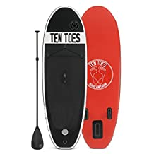 Ten Toes Board Emporium Nano Inflatable Stand Up Paddle Board Bundle, Small/8'