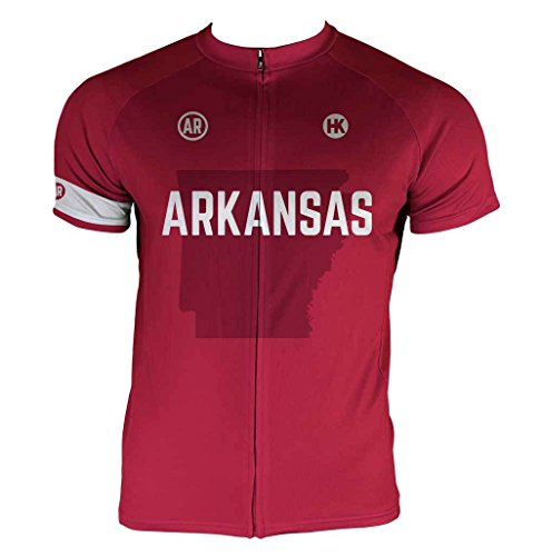 Arkansas Cycling Jersey - Hill Killer Arkansas Men's Cycling Jersey (Large)
