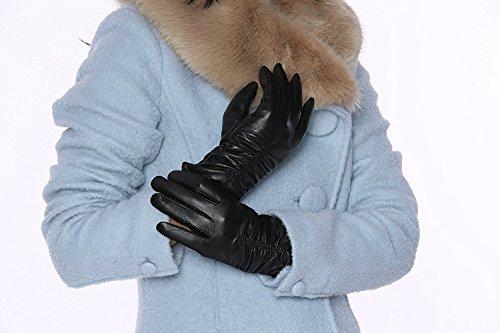 フィレンツェModaレディースMS Genuineレザー総裏地付き冬手袋