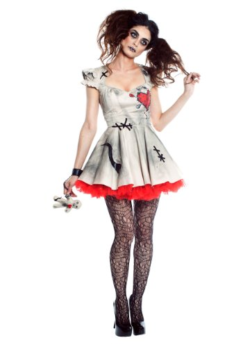 Seeing Red Womens Voodoo Doll Costume - L -
