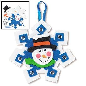 Arts And Crafts Christmas Ornaments (12 Snowman Snowflake Ornament Craft Kits)