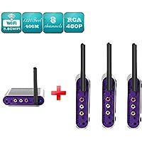 Measy AV540-3 (1X3) 5.8GHz 8 Channels CCTV Camera DVR Wireless Transmitter Receiver AV Sender 400m/1320feet with IR remote control