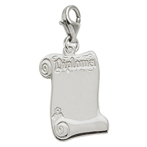 Rembrandt Charms Diploma Charm with Lobster Clasp, Sterling Silver