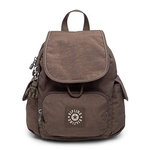 Kipling Citypack XS, Adjustable Backpack Straps, Zip Closure, soft earthy beige