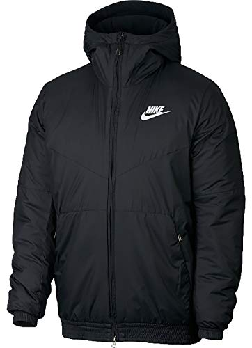 (Nike Men's Sportswear Synthetic Fill Jacket Black/White Size)