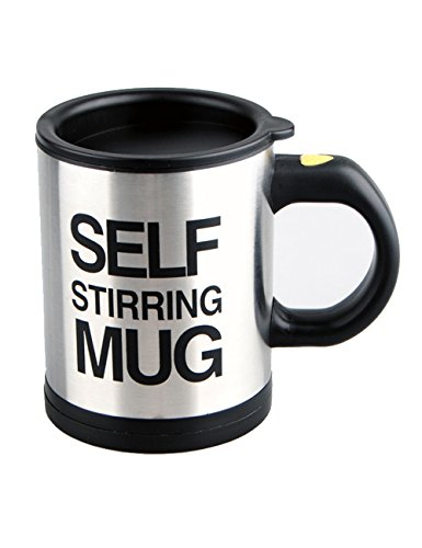 Self Stirring Coffee Mug (Black/Silver) - 6
