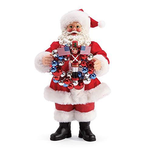 Department 56 Possible Dreams Santa Red White and Blue Figurine, 10.5 Inch, Multicolor (Department Santas Dreams Possible 56)