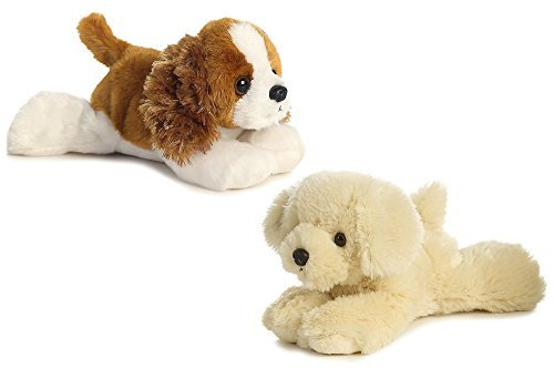 Animal Miniature Plush (Aurora Charles Cavalier & Bailie Golden Retriever Dog Mini Flopsie 8