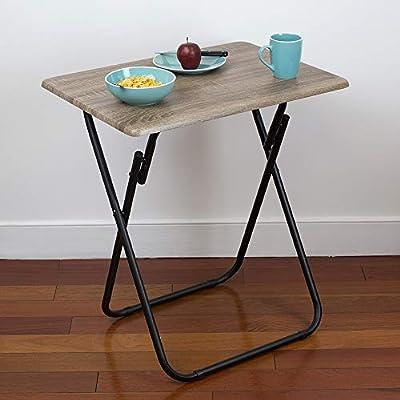 Amazon.com: Home Basics Bandeja de mesa plegable multiusos ...