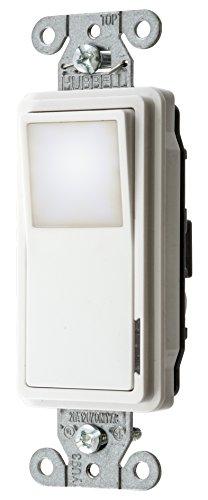 Bryant Electric 9901NLW Combination LED Nightlight with Automatic Sensor, Single Switch Decorator and Single Pole, 20 Amp/120V AC, White ()