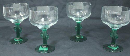 Libbey Cactus Margarita Glasses Set of 4