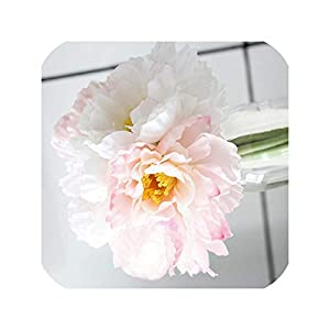 7Pcs Silk Rosemary Artificial Flowers Real Touch Wreath Fake Flower for Wedding Home Decoration Accessories, Pink 36