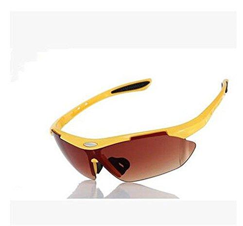 de CHshop moto soleil Jaune lunettes et Cadre marée vent coupe lunettes vélo femmes Hommes Xw1rRqHX