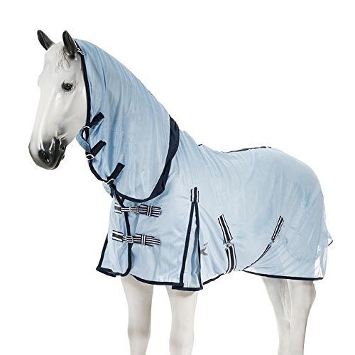 [해외]Horze Freja Fly 콤보 깔개, 하늘색/Horze Freja Fly Combo Rug, Light Blue
