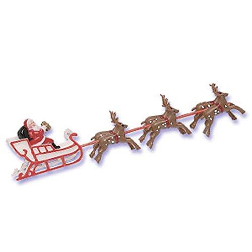 Santa Sleigh Reindeer Christmas Winter Cake Kit Topper Ca...
