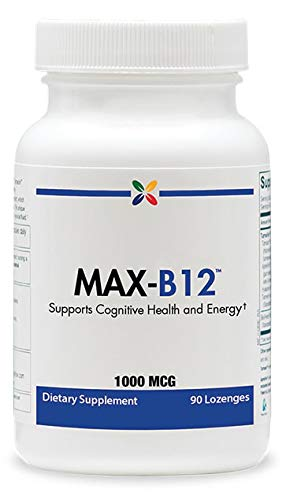 Methylcobalamin Vitamin B12 Lozenges - MAX-B12 Vitamin B12 Lozenges 1000 mcg - Supports Cognitive Health and Energy - Stop Aging Now - 90 Lozenges