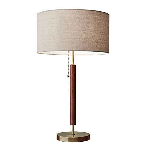 - Adesso 3376-15 Hamilton Antique Design Table Lamp, Brass Finish, 26.25 x 15.00 x 15.30 inches