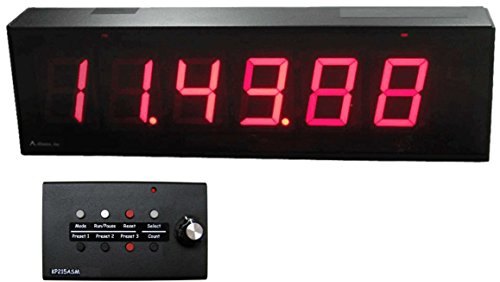 Digit Pace Clock (Alzatex Production pace TAKT Timer with 6-digit Digital LED 2-1/3in Displays Hours : Minutes : Seconds)