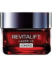 L'Oréal Paris Revitalift Lazer X3 Yoğun Yaşlanma Karşıtı Gündüz Bakım Kremi, 50 ml