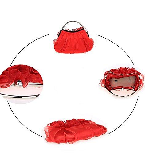 Flada - Bolso al hombro para hombre rojo Red mediano Red