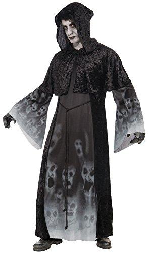 Forum Novelties Men's Ghostly Spirits Forgotten Souls Costume, Black, (Spirit Halloween Costumes Men)