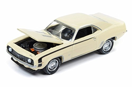 1969 Chevy Camaro 50th Anniversay, Butternut Yellow - Round 2 JLCG012/48A - 1/64 Scale Diecast Model Toy Car -