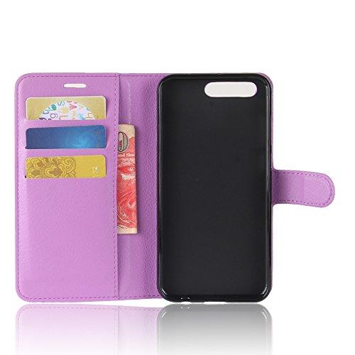Funda Asus ZenFone 4 Pro, WolinTek Funda Cartera de Cuero Sintético Cubierta de Tapa del Tirón con Función Soporte y Tarjeta Flip Wallet Case Carcasa para Asus ZenFone 4 Pro, rosa roja violeta