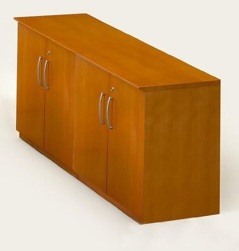 Credenza Corsica Series (Mayline Corsica Series Low Wall Cabinet With Doors (All Wood Doors),)