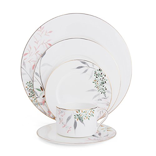 Mikasa 5200076 Alaya Bone China 5-Piece Place Setting, Service for 1, White/Assorted