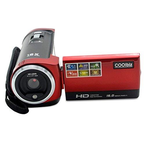Digital Video Camcorder Camera,Hosamtel HDV-107 HD 720P 16MP DVR 2.7'' TFT LCD Screen 16x ZOOM with 16G memory - Extreme Sensitivity Sunglasses For Light
