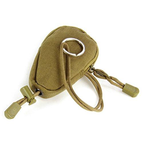 WINOMO Mini Outdoor tragen Bag Portable Reisen Münzen Geldbörse Änderung Geldbeutel Schlüsseletui mit integrierten Schlüsselring für Outdoor-Übungen (Boden)