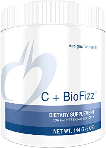 Designs for Health - C+BioFizz - 2569mg High Potency Vitamin C, Orange Powder + Quercetin + Hesperidin + Rutin, 144 Grams