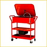 Washer Cart Electric Portable With Wheels For Mobile Parts Solvent Pump Drying Shelves Cleaning 20 Gallon Capacity - House Deals
