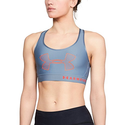 Under Armour Women's Armour Mid Graphic, Washed Blue (420)/After Burn, Small